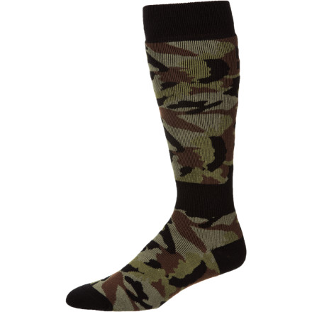 Snowboard Wrap your feetses in the all-over cushioning of the DC Apache Snowboard Sock. You're putting in a full day in your boots, so you need the moisture-wicking nylon and stretchy spandex of these cushy acrylic socks to keep your dawgs dry and prevent sock slippage while you ride. - $10.50