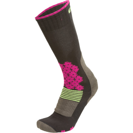 Snowboard As you ride around the mountain and try to figure out what's 'off' with your riding, consider the Women's Snowride Snowboard Sock from EURO Socks. This technical sock matches and supports your curvy feminine foot so you can feel more natural in your boot and get the comfort you need to power through turns. - $19.95