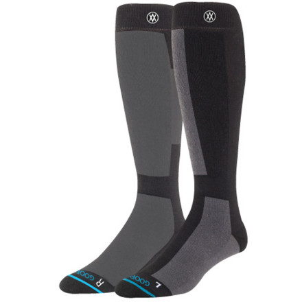 Snowboard Put your best foot forward with the Stance Switch Snowboard Sockliterally. The Switch Sock comes in both goofy and regular variants, constructed to meet the different ergonomic cushioning demands of your feet. The Italian-made Switch Sock also features siliconized grip along the heel area to avoid lifting, and it keeps the funk away with the moisture-managing fabric known as Thermolite. - $17.97