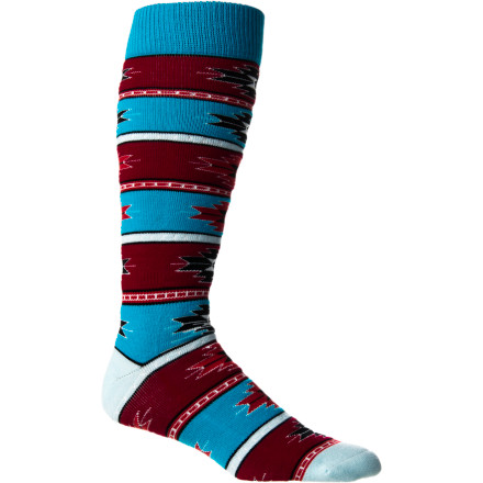 Snowboard Even after a long day at the mountain, chances are you won't be in any hurry to take off your Stance Acrylic Women's Snowboard Sock. That's because it's made with a plush acrylic blend that keeps your toes toasty on chilly winter days, so you and your feet stay happy all day. - $14.95