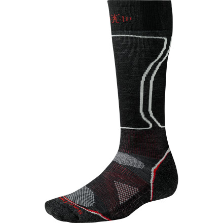Snowboard SmartWool designed the PhD Snowboard Light Socks with one thing in mindsnowboarding. The mix of lightweight materials keeps your toes warm on mild winter days and works hard to keep your feet cool and comfortable while you hike the park. - $23.90