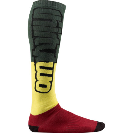 Snowboard Show your patriotic pride (or just  give thanks to Jah) with the lightly-padded, sweat-wicking ThirtyTwo Nations Sock. - $10.77