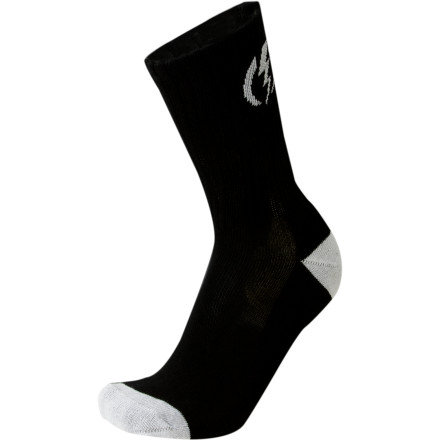 Skateboard Try to be a good boy because if you're bad you could come back as a pair of Electric Volt Skate Socks. Just think of a life wrapped around stinky skater feet. It makes you wonder what horrendous atrocity these socks committed in a former life. - $5.91