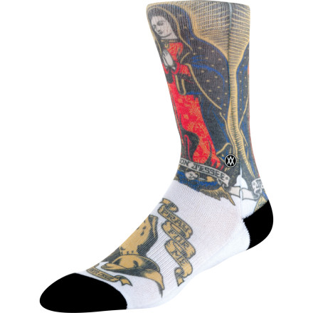 Skateboard The blood on your socks doesn't count as art, even if it is shaped like Fidel Castro. Slip on the Stance Artist Series Skate Sock if you really want to add flavor to your foot. This sock comes in a few different graphics that were designed by Stance's favorite artists. The breathable polyester, cotton, and spandex blend fabric ensures they aren't just for show, and the elastic arch support and seamless toe provide comfort for long days of skating around downtown. - $13.95
