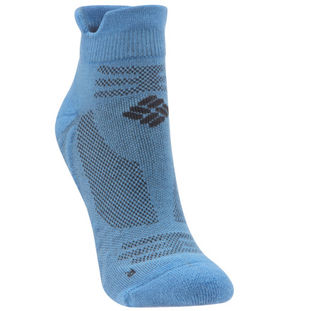 Fitness The Columbia Women's Ravenous Micro Tab Sock has been specifically engineered to team up with your shoe to deliver maximum comfort and performance on the trail. Thanks to the sock's careful design, you get cushioning, venting, and a smooth fit right where you need it most. - $7.98