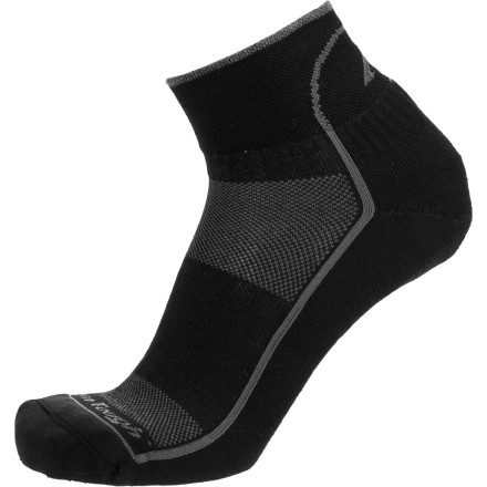Fitness Pull up your Darn Tough Coolmax 1/4 Cushion Running Sock and hit the road. Made with Coolmax polyester, this sock actively works to pull sweat away from your skin and prevent hotspots or blisters from forming during extended runs. - $15.95