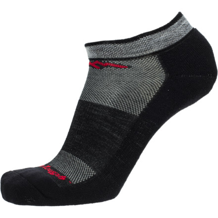 Fitness Ranked by Runner's World as one of the Top Ten Running Socks, the Darn Tough Merino Wool No-Show Cushion Running Sock helps to cushion your foot through each stride of your training run or upcoming half-marathon. Build with incredibly soft merino wool fibers, the No-Show also works to pull moisture away from your skin and prevent blisters from forming. - $14.95