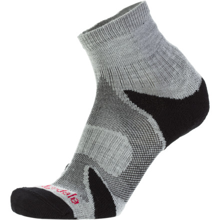 Fitness Bridgedale designed their X-Hale Multi-Sport Performance Sock for the demanding athlete. Light mesh surrounds the foot permitting air to circulate. During intense activity, impact pads under the heel, ball, and toes provide next-to-skin comfort while WoolFusion construction helps pull moisture away from the foot. Though ideal for a multitude of indoor and outdoor sports, they're great for triathletes who don't want to waste seconds changing socks between cycling and running. - $10.37