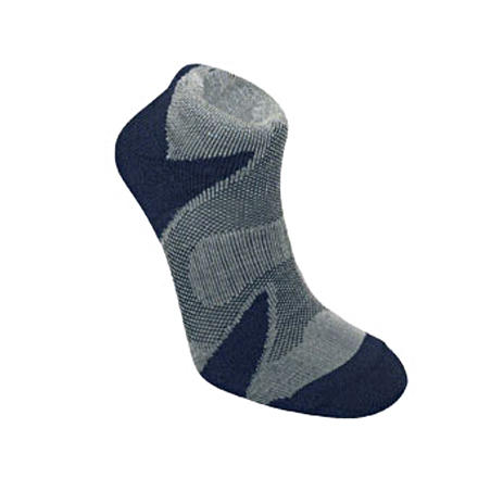Fitness Bridgedale's X-Hale Cool Lo Sock is made for the demanding athlete. Light mesh surrounds the foot permitting air to circulate. During intense activity, impact pads under the heel, ball, and toes provide next-to-skin comfort while WoolFusion construction helps drive moisture away from the foot. Though ideal for a multitude of indoor and outdoor sports, they're perfect for triathletes who don't want to waste seconds changing socks between cycling and running. - $9.07
