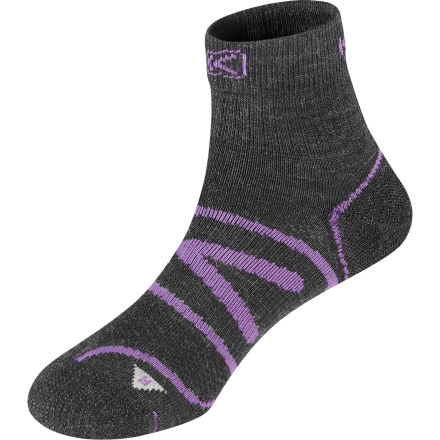 Fitness End the reign of overheated toes when you slip on the super-lightweight KEEN Women's Zip Hyperlite 1/4 Crew Sock and run the longer mountain loop trail this summer. - $15.95