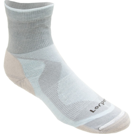 Fitness Slip on the Lorpen Womens Tri-Layer Light Shorty Sock and lace up your sneakers for a heart-pounding run without sweaty, blistering feet. Three different layers of material work together to make your feet dry and comfortable for short and long trails. - $8.42