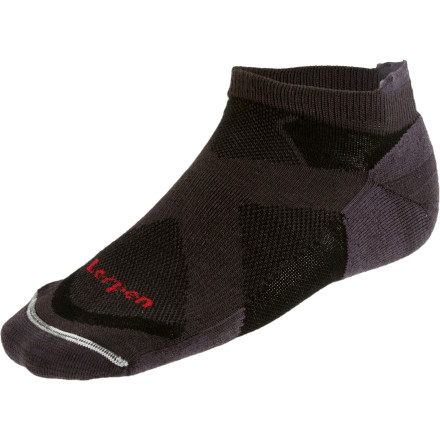 Fitness Lorpen uses three layers of strategically placed fabrics in the Men's Tri-Layer Light Running Sock to efficiently wick moisture and cushion your foot during high-impact activities. The Tr-Layer light running Sock has a slightly higher profile for added protection while trail running and other off-road activities. - $7.77