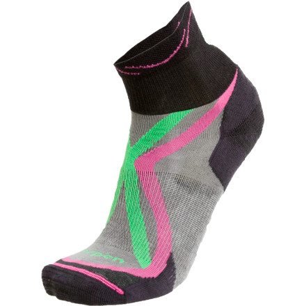 Fitness Hit the dirt while wearing the Lorpen Women's Trail Light Running Sock and treat your feet to a cool, dry run thanks to this sock's highly breathable fabric. Stretchy Lycra helps these socks conform to your foot while Coolmax material allows hot air and stifling moisture to move away from your skin. A lightly cushioned sole and ankle-height cuff help to take some of the bite out of hazards you might encounter on your run through the wild. - $6.48