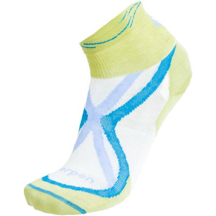 Fitness End the torture of hot and sweaty feet when you're running dirt thanks to the cool and breathable construction of the Lorpen Women's Trail Ultralight Running Sock. Synthetic materials stretch to comfortably conform to your foot and create a moisture-wicking barrier that pulls stifling sweat away from your skin. An ankle-height cuff keeps debris from filling your socks before you finish your 10k hill climb. - $5.48