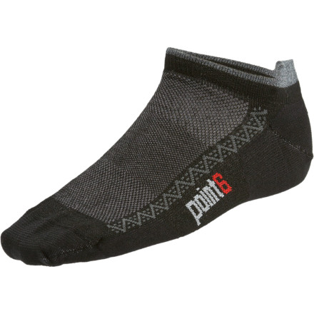 Fitness The short, below-the-ankle point6 Running Ultra Light Micro Sock provides the perfect balance of comfort and simplicity for your heart-pounding trail runs through the nearest patch of wilderness. Soft merino wool next to the skin surrounds your foot with a smooth, itch-free feel, while nylon and spandex keep this performance sock close-fitting and secure for long, rewarding runs without blisters. - $11.16