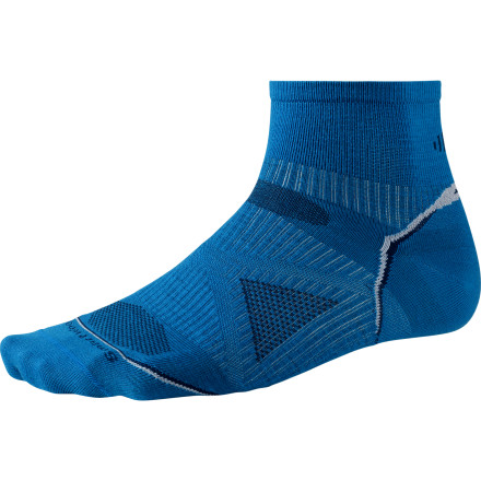 Fitness Run without worrying about the pruned, stinky-feet side-effects you used to suffer; you received your doctorate in good sense when you pulled on the SmartWool PhD Running Ultra Light Mini Sock. This thin sock provides ankle coverage while still allowing your lower legs breathing-room on hot days. - $15.90
