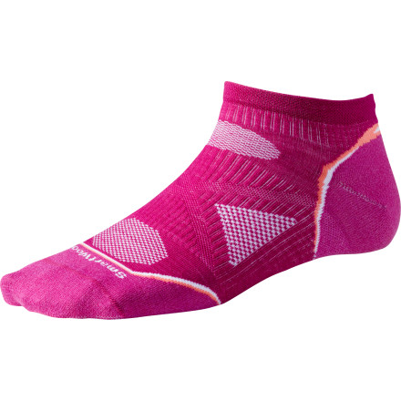 Fitness You want just enough sock at your ankle to prevent the dreaded shoe-cuff rub, but it also has to absorb a little shock, keep your foot cool on hot summer runs, and prevent odor naturally. Turn to the Smartwool Women's PhD Running Ultra Light Micro Sock to satisfy these and many more of your running-sock desires. - $15.90