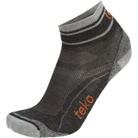 Fitness Socks with cushioning are great, but unless that cushioning is in the right spot, it's just more material to make your feet hot. Teko engineers looked closely at what runners need and constructed the Men's Organic Sin3rgi Light Minicrew Running Socks accordingly. A blend of breathable merino and quick-drying synthetic material keep your feet cool and dry and strategically-placed cushioning keeps your toes more comfortable than your butt in the leather seat of a luxury sedan. - $15.95