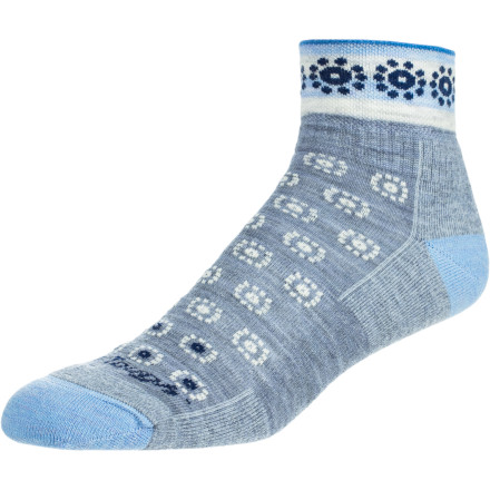 Camp and Hike Bring relief to your weary dogs with the high-density cushioning of the Darn Tough Women's Annie 1/4 Crew Cushion Merino Wool Hiking Sock. Even after hours on the trail, the comfy cushioning of these merino socks helps your feet stay energized. - $16.95