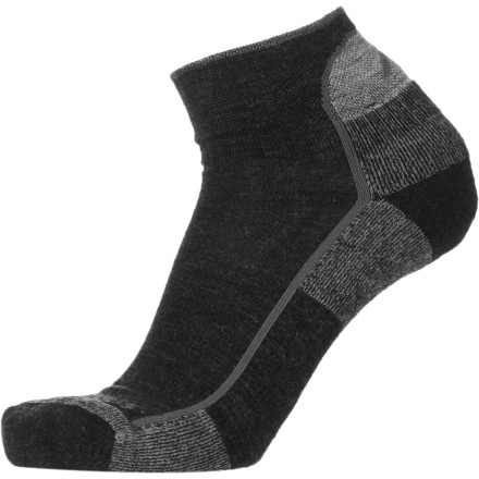 Camp and Hike Find out for yourself why Outside Magazine praised the Darn Tough Merino Wool 1/4 Cushion Hiking Sock. Built with merino wool fibers, the Cushion Hiking Sock naturally resists odor and offers unsurpassed softness, keeping you comfortable from the trailhead to the peak on a sunny afternoon hike. - $16.95