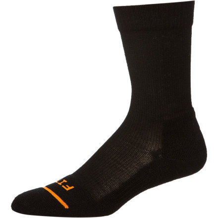 Camp and Hike The folks at FITS have an obsession with comfort. FITS designed its Light Hiker Crew Sock with the Full Contact Fit system for a perfect fit that won't move around or bunch up and a lightly padded sole that absorbs shock while remaining ultra-lightweight. - $19.95