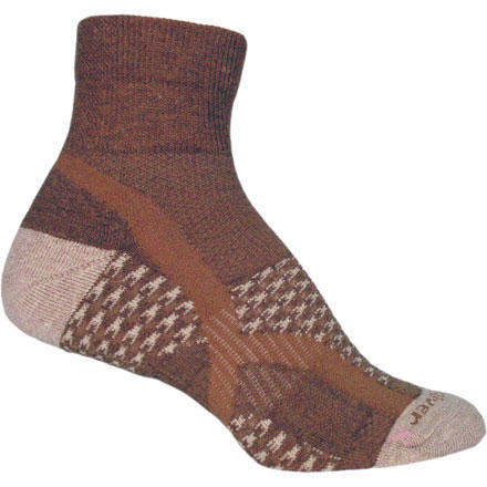 Camp and Hike The Fox River Women's Journey Quarter Sock includes mesh panels to provide flow-through ventilation and keep your foot cool when you hit the trail this summer. Patterned high-density foot cushions create a plush feel on long hikes, and the spandex arch support helps keep the Journey Sock in place. Fox River used a blend of nylon, Ingeo, and recycled polyester to create an ideal mix of quick drying performance, comfort, and durability. - $9.95