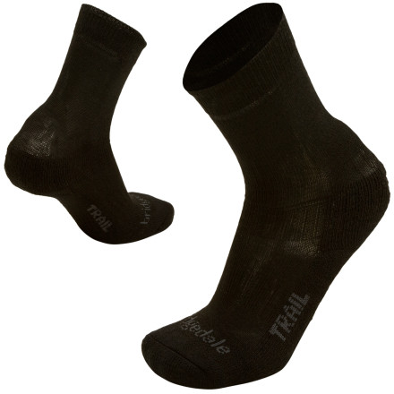 Camp and Hike Spend your day in the Bridgedale Trail Socks whether you're going on a hike into the wilderness or walking around town. These Bridgedale Trail Socks are lightweight multifunctional socks for everyday wear or light trekking. Ankle and arch supports prevent the socks from moving so they won't bunch up in your shoes while you walk. A blend of Merino wool and nylon wicks moisture from your feet to keep you cool and dry. - $16.95