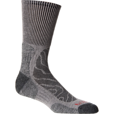 Camp and Hike Day hikers will revel in the blissful feeling of the Bridgedale Men's Merino Trail Hiking Sock whether the temperature on the trail is a little warm or wickedly toasty. - $17.95
