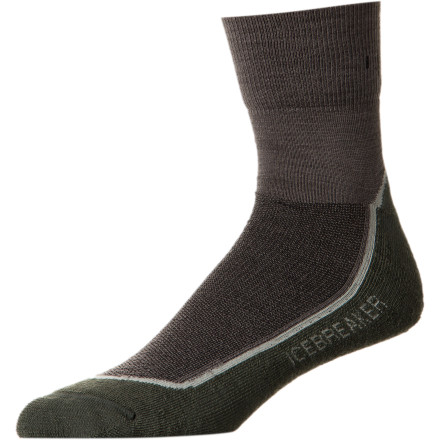 Camp and Hike Hike high and far thanks to the natural wicking abilities of Icebreaker's merino wool Hike Lite Mini Sock. - $17.95