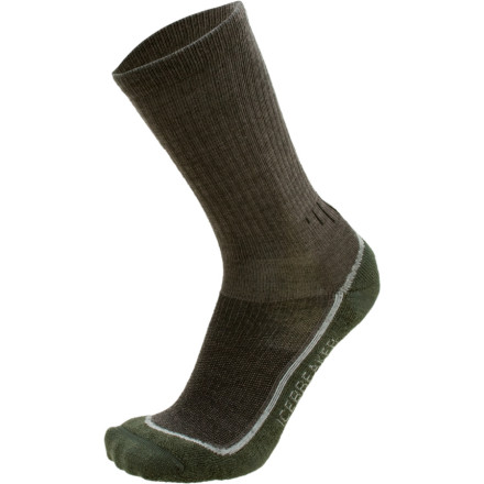 Camp and Hike If youre the guy who spends a lot of time on dusty trails and crossing cold creeks, you need a double-dose of Icebreakers Mens Hike Lite Crew Hiking Socks ... so we offer a 2-Pack. Instep and Achilles support keeps the sock in place as you hump gear miles into the backcountry or scramble up rocky outcrops close to camp to take in the sunset. Pure merino wool is your ally in cold weather, but wont turn your toes into shriveled prunes either. - $34.95