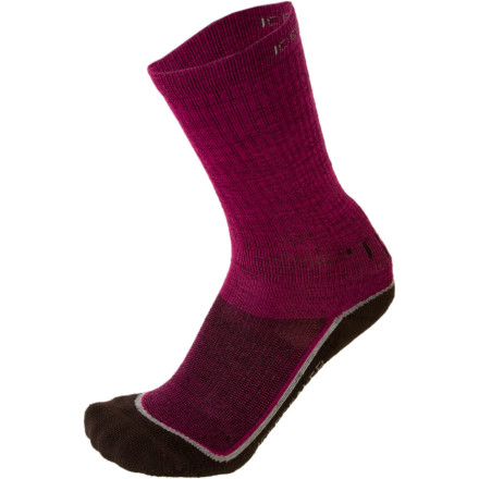 Camp and Hike The Icebreaker Womens Hike Lite Crew Sock Two-Pack offers all the benefits of wool times two. Thanks to strategic reinforcement, this sock offers Achilles and instep support for long hikes in addition to heel and toe durability. Merino wool naturally resists odor so you dont have to waste pack space with a daily change of socks. With a breathable flat zone to allow circulation, the Hike Lite Crew gives your feet a fine ride, even when youre pounding out miles on the trail. - $34.95