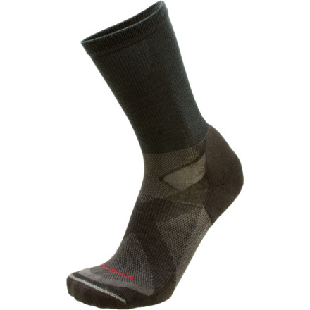 Camp and Hike Lorpen made the Mens Tri-Layer Light Hiker Crew Sock with high Lycra content for all-around use. Light cushioning and an instep stretch panel ensure comfort and a snug fit. - $17.95