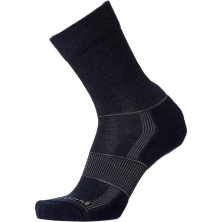 Camp and Hike Hit the long trail or load up your day pack for a sprint up Mt. Olympus while you're wearing the cushioned Patagonia Lightweight Merino Hiking Crew Sock. An ankle-height cuff provides protection from scree and prickly bushes, and these durable trekking socks keep your feet as comfortable as possible when you charge up the mountain. - $18.00