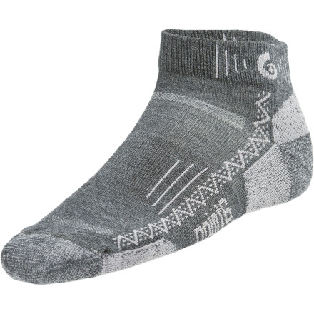Camp and Hike Built with a blend of non-itchy merino wool, moisture wicking nylon, and stretchy spandex, the Point6 Hiking Tech Extra Lightweight Mini Crew Sock delivers on-trail comfort with every step you take. - $16.95
