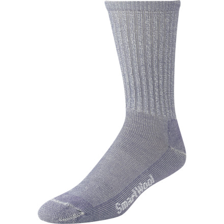 Camp and Hike Tread lightly with the Hiking Light Sock from SmartWool. Lightweight is the mantra of many hikers. The new Hiking Light sock from SmartWool follows that dogma with an impressive blend of features woven into a thin sock. Support and comfort are built in for mile after mile of quick, blister-free hiking. Wool is a natural choice for hiking socks do to its ability to resist moisture and odors. Durable and soft Merino wool is used to make these socks a perfect trail companion. - $17.90