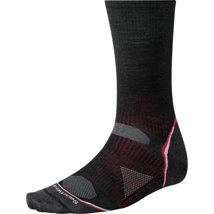 Camp and Hike Sewn with a blend of ultra-breathable, non-itchy merino wool and durable nylon, the SmartWool PhD Outdoor Ultra Light Crew Sock is designed to provide a minimalist feel for maximum performance. - $19.90