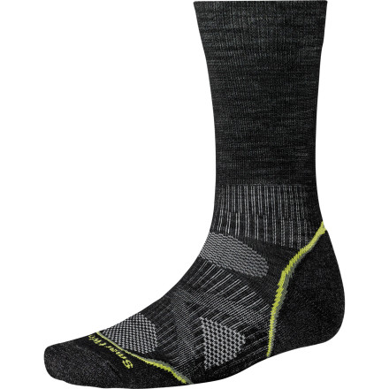 Camp and Hike Whether you make long treks with a backpack or log shorter hikes more frequently, the unique blend of wool, nylon, and elastane in the lightweight SmartWool PhD Outdoor Light Crew Sock helps the sock dry quickly, breathe sufficiently, and stay in place. - $20.90