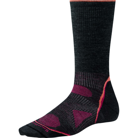 Camp and Hike The SmartWool PhD Women's Outdoor Ultra Light Crew Socks are sewn with a blend of ultra-breathable, non-itchy merino wool and durable nylon. Dive your toes straight in for a minimalist feel and maximum performance. - $19.90