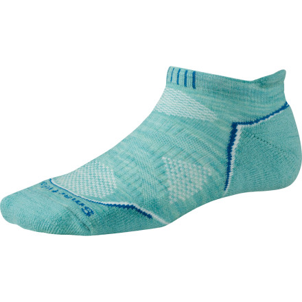 Camp and Hike Your desire to push the limits of your physical fitness and return home without pruned, stinky feet isn't crazythe lightweight, breathable SmartWool Women's PhD Outdoor Light Micro Socks can totally handle it. The cuff height provides just enough coverage to eliminate shoe-cuff rub while leaving your ankle cool. - $16.90