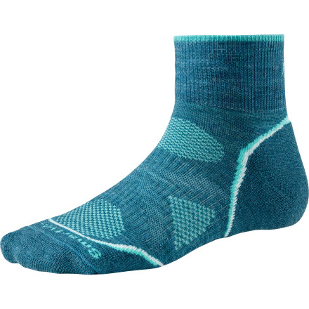 Fitness Boasting an advanced degree in woolly comfort, the Smartwool Women's PhD Outdoor Light Mini Sock is here to help your toes feel great during summer hiking or trail running. - $16.90