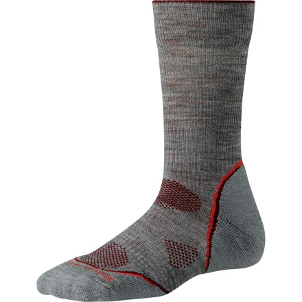 Fitness With designated ventilation zones, just enough stretch to prevent shifting, and nature's premium anti-odor fiber, the SmartWool Women's PhD Outdoor Light Crew Sock is a must-have if you spend as much time outside as you do inside. The crew length works well with mid-height hikers. - $13.59