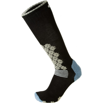 Ski The EURO Socks Womens Snowdrop Ski Sock features techy design and old-school Italian craftsmanship. This sock combines the moisture wicking and insulation of MicroSupreme fabric with the comfort of nylon and spandex for maximum comfort and warmth. An elasticized arch and ankle bracing keep this sock right where you want it and ample padding protects your shin, forefoot, and heel. - $12.97