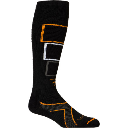 Ski Lorpen Tri-Layer Medium Ski Socks use three-layer cushioning and buttery-smooth merino wool to protect your feet from the abuse of hard, vice-like ski boots. Backed by Lorpen's legendary high-quality construction, these merino socks allow your feet to breathe to keep them dry and have elastic fibers for a touch of support at your arch. Don't sweat the thickness of these socks though, Lorpen kept them on the medium-to-skinny side so your feet will still slide easily into those half-size-too-small performance boots. - $15.57