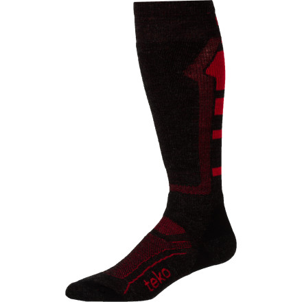 Ski For a custom feel, no-slip fit, and the necessary warmth for the coldest ski days, pull on the Teko Men's M3RINO.XC Medium Ski Sock. A ski-specific fit, medium cushioning, and itch-free merino wool place this sock a step ahead of the competition. - $22.90
