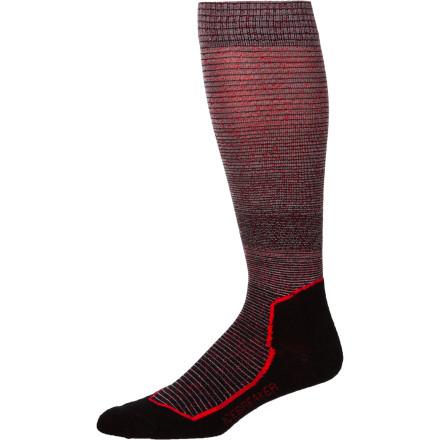 Ski Sliding your foot into the Men's Ski+ Lite Gradient OTC Sock is comparable to digging your toes into the sand on a warm summer day. Think ultimate comfort, support, and warmth, even when the bitter cold of winter is bearing down on your toes. Icebreaker cut this sock a little taller than your typical sock in order to provide extra coverage for your shin and ankle, which is perfect for skiers. - $15.57