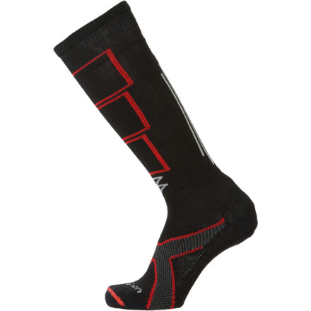 Ski Nobody wants sweaty feet while skiing or riding. Wrap your feet in the comfort and warmth of the Lorpen Tri-Layer Light Ski Sock. Fibers easily wick moisture away from your foot, which improves moisture management and comfort. To help increase resistance to abrasion and wear, Lorpen added a nylon outer layer in high-friction areas, so you wont get holes after a couple of wears. - $14.27