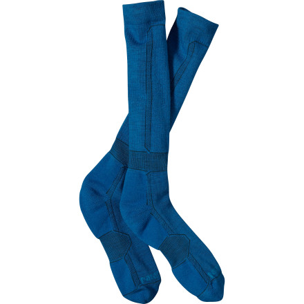 Ski Last night's storm brought in 20 inches of freshness. Time to reach for your Patagonia Lightweight Merino Ski Socks and get to shredding. Merino wool gives these socks a smooth feel, helps to wick moisture away from your skin, and provides light cushioning from first chair to last tram bell. - $25.00