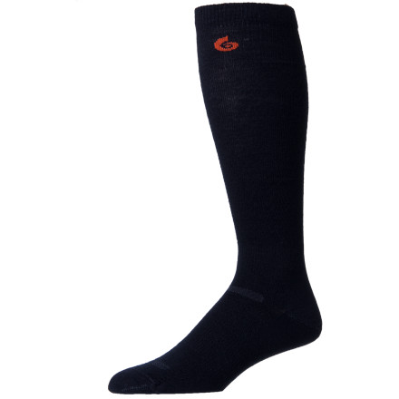 Ski The Point6 Ski Ultra Light Sock reminds you to kick your winter-is-ending blues, grab your ski or snowboard gear, and search out that remaining ribbon of snow for some turns. This sock's ultralight merino wool breathes and resists odor during your quest to find the last snow. - $18.95
