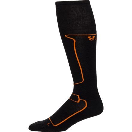 Ski Never suffer from chilly toes again after you pull on the Stoic Alpine Merino Ski Sock. A blended combination of natural merino wool and synthetic material makes this sock toasty warm on the inside and silky smooth on the outside. Designed specifically for winter's chilliest days, this sock is right at home in your ski boot or your favorite snow boot. - $12.60