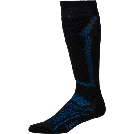 Ski The Teko Men's M3RINO.XC Light Ski Sock is the answer for expert skiers who want precise fitting and who have narrow-lasted boots. Merino wool provides unrivaled warmth while the Dynamic Custom Fit makes the sock feel like a second skin. - $21.90